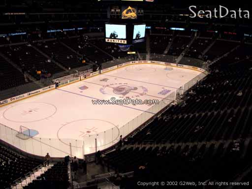 Seat view from section 240 at the Pepsi Center, home of the Colorado Avalanche
