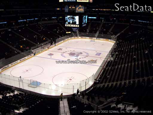 Seat view from section 242 at the Pepsi Center, home of the Colorado Avalanche