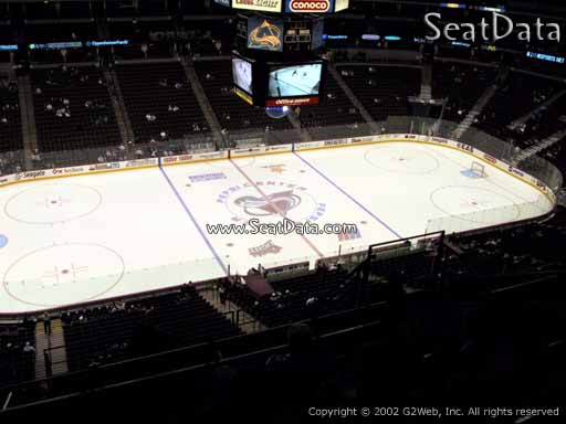 Seat view from section 306 at the Pepsi Center, home of the Colorado Avalanche
