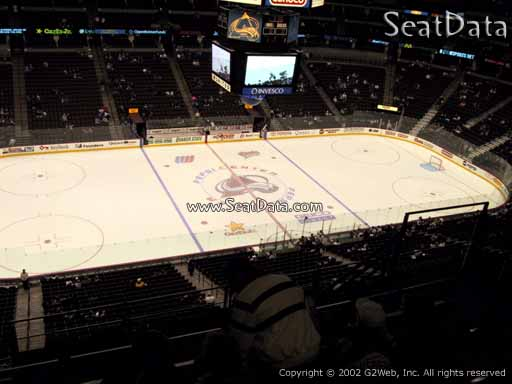 Seat view from section 345 at the Pepsi Center, home of the Colorado Avalanche