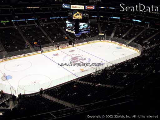 Seat view from section 349 at the Pepsi Center, home of the Colorado Avalanche