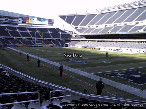 Seat view from section 101 at Soldier Field, home of the Chicago Bears