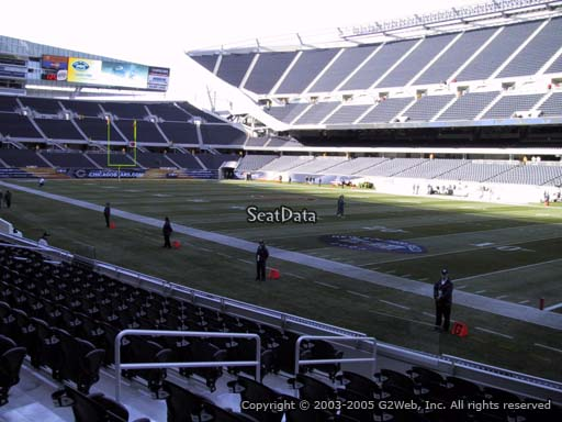 Seat view from section 103 at Soldier Field, home of the Chicago Bears