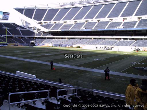 Seat view from section 105 at Soldier Field, home of the Chicago Bears