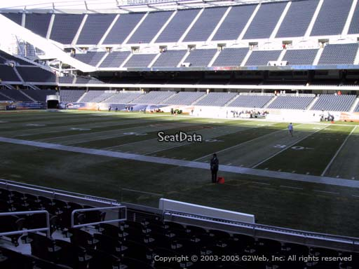 Seat view from section 106 at Soldier Field, home of the Chicago Bears