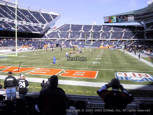 Seat view from section 121 at Soldier Field, home of the Chicago Bears