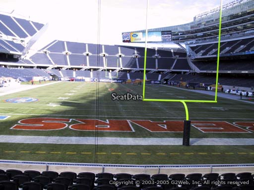Seat view from section 123 at Soldier Field, home of the Chicago Bears