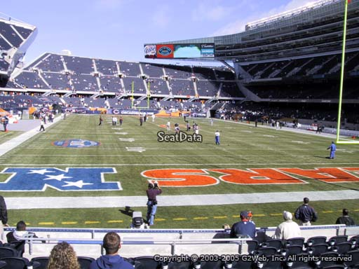 Seat view from section 124 at Soldier Field, home of the Chicago Bears