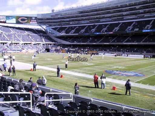 Seat view from section 131 at Soldier Field, home of the Chicago Bears