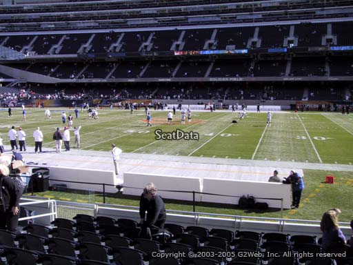 Seat view from section 134 at Soldier Field, home of the Chicago Bears