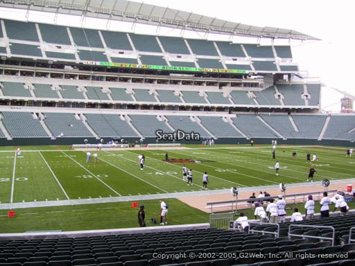 Seat view from section 112 at Paul Brown Stadium, home of the Cincinnati Bengals