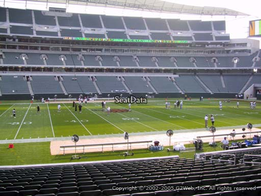 Seat view from section 141 at Paul Brown Stadium, home of the Cincinnati Bengals