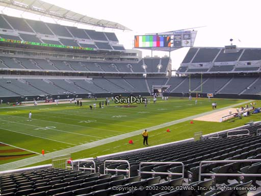 Seat view from section 148 at Paul Brown Stadium, home of the Cincinnati Bengals