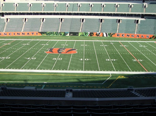 Seat view from section 209 at Paul Brown Stadium, home of the Cincinnati Bengals