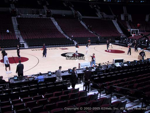 Seat view from section 102 at the Moda Center, home of the Portland Trail Blazers
