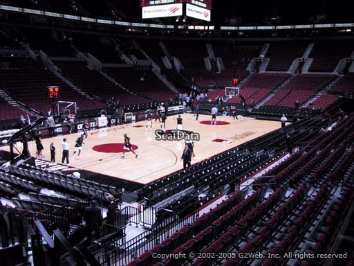 Seat view from section 115 at the Moda Center, home of the Portland Trail Blazers