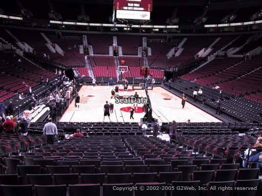 Seat view from section 118 at the Moda Center, home of the Portland Trail Blazers