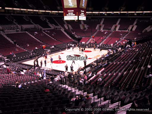 Seat view from section 206 at the Moda Center, home of the Portland Trail Blazers