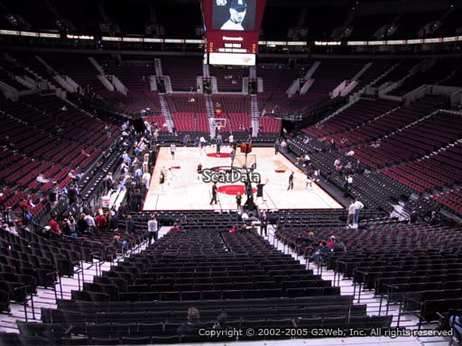 Seat view from section 224 at the Moda Center, home of the Portland Trail Blazers