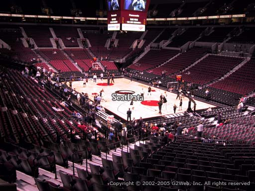 Seat view from section 226 at the Moda Center, home of the Portland Trail Blazers