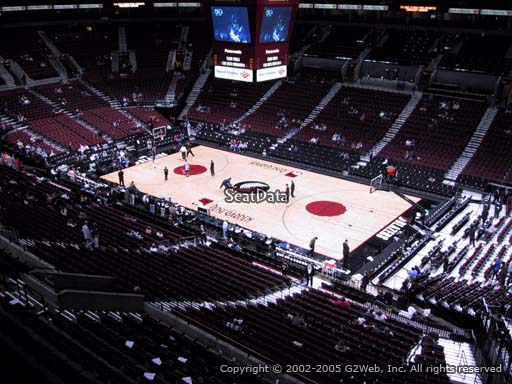 Seat view from section 228 at the Moda Center, home of the Portland Trail Blazers