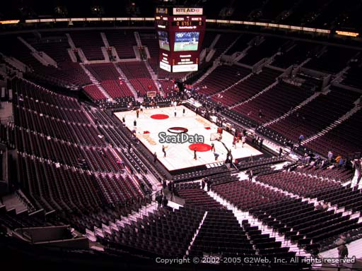 Seat view from section 312 at the Moda Center, home of the Portland Trail Blazers