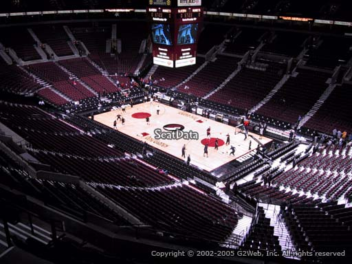 Seat view from section 314 at the Moda Center, home of the Portland Trail Blazers
