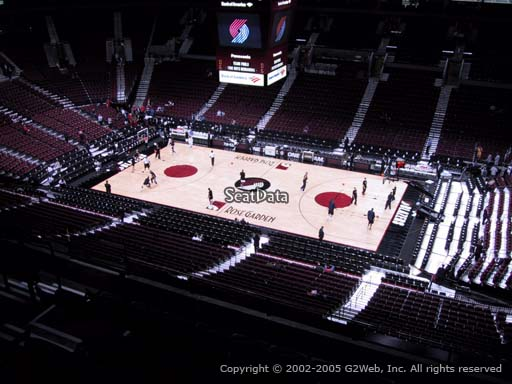 Seat view from section 316 at the Moda Center, home of the Portland Trail Blazers