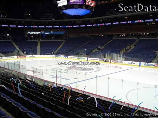 Seat view from section 101 at Nationwide Arena, home of the Columbus Blue Jackets