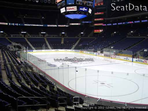 Seat view from section 111 at Nationwide Arena, home of the Columbus Blue Jackets
