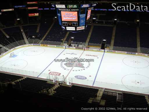Seat view from section 216 at Nationwide Arena, home of the Columbus Blue Jackets