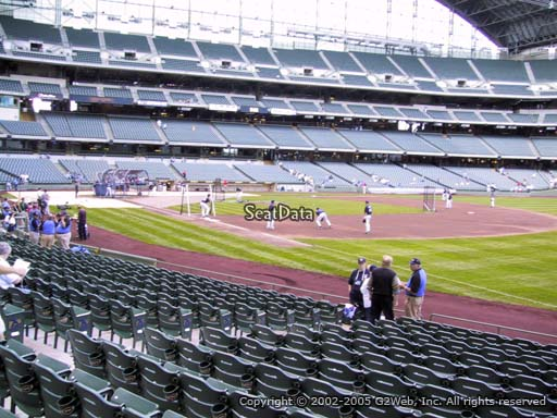 Seat view from section 109 at Miller Park, home of the Milwaukee Brewers