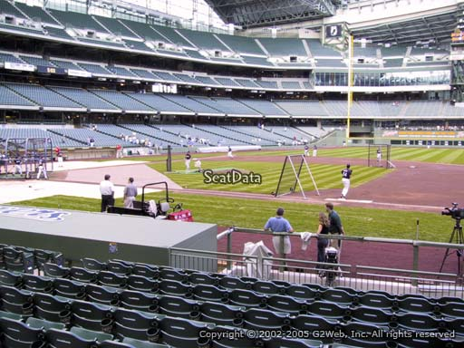 Seat view from section 112 at Miller Park, home of the Milwaukee Brewers