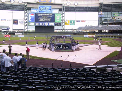 Seat view from section 118 at Miller Park, home of the Milwaukee Brewers