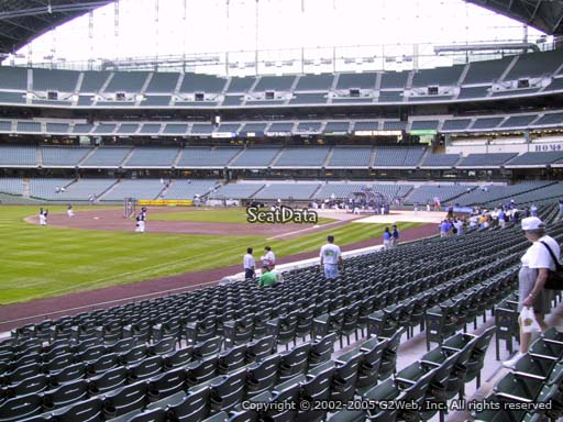 Seat view from section 128 at Miller Park, home of the Milwaukee Brewers