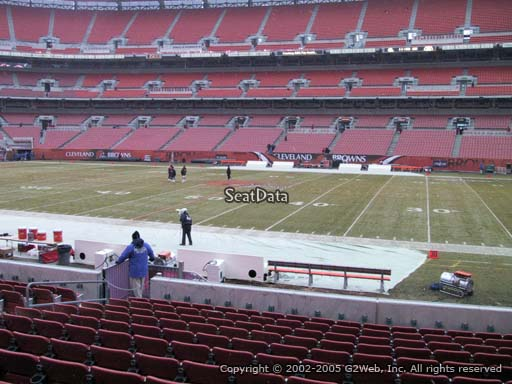 Seat view from section 110 at FirstEnergy Stadium, home of the Cleveland Browns