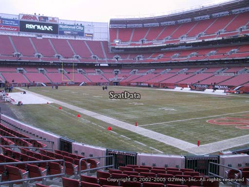 Seat view from section 116 at FirstEnergy Stadium, home of the Cleveland Browns