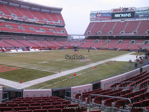 Seat view from section 125 at FirstEnergy Stadium, home of the Cleveland Browns