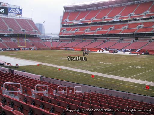 Seat view from section 138 at FirstEnergy Stadium, home of the Cleveland Browns