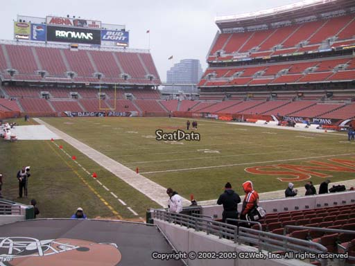 Seat view from section 144 at FirstEnergy Stadium, home of the Cleveland Browns