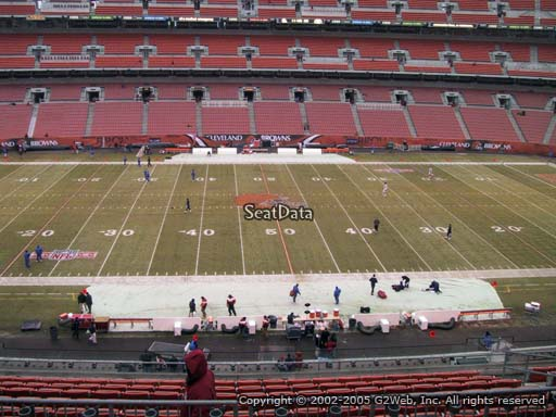 Seat view from section 308 at FirstEnergy Stadium, home of the Cleveland Browns