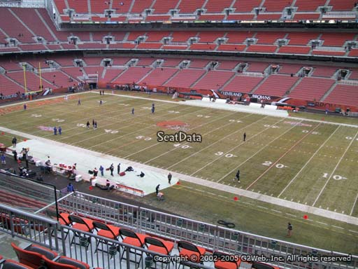 Seat view from section 312 at FirstEnergy Stadium, home of the Cleveland Browns