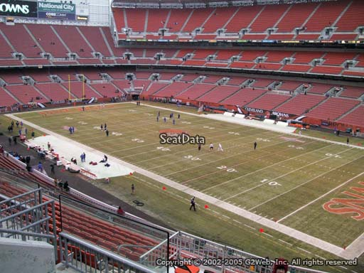 Seat view from section 314 at FirstEnergy Stadium, home of the Cleveland Browns