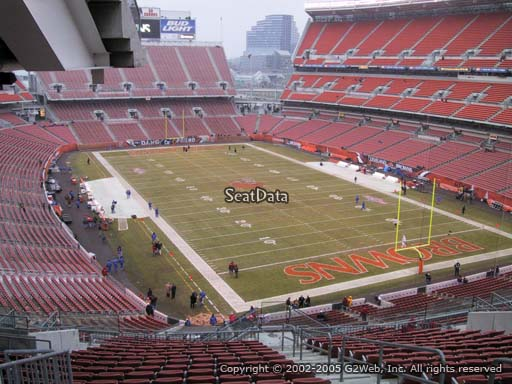Seat view from section 343 at FirstEnergy Stadium, home of the Cleveland Browns