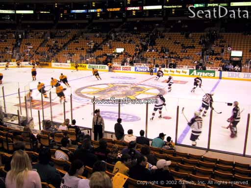Seat view from section 11 at the TD Garden, home of the Boston Bruins