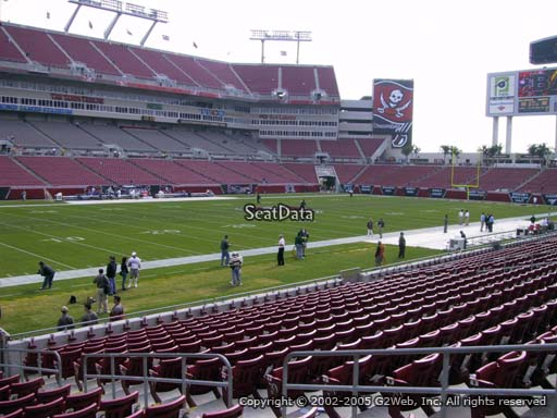 Seat view from section 106 at Raymond James Stadium, home of the Tampa Bay Buccaneers