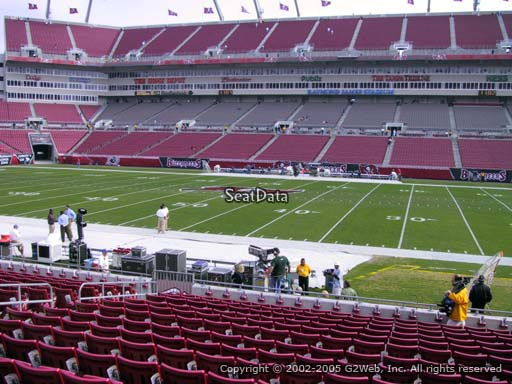 Seat view from section 112 at Raymond James Stadium, home of the Tampa Bay Buccaneers