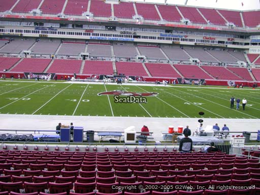 Seat view from section 135 at Raymond James Stadium, home of the Tampa Bay Buccaneers