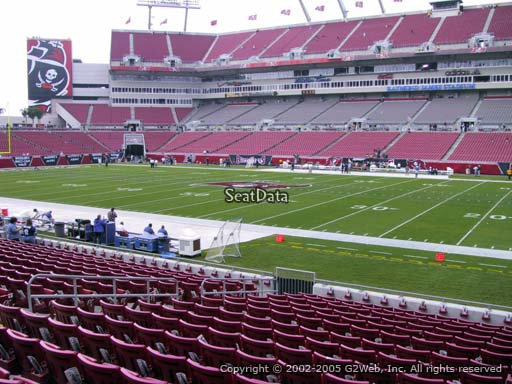 Seat view from section 138 at Raymond James Stadium, home of the Tampa Bay Buccaneers