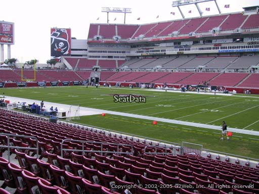 Seat view from section 139 at Raymond James Stadium, home of the Tampa Bay Buccaneers